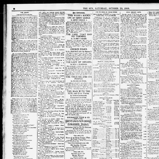 The sun  (New York [N Y ]) 1833-1916, October 20, 1900, Page