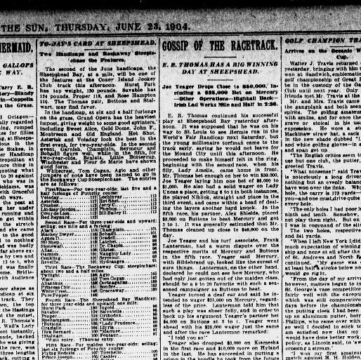 The Sun New York Ny 1833 1916 June 23 1904 Page 5 Image 5