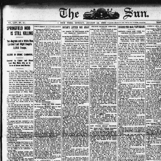 The sun  (New York [N Y ]) 1833-1916, August 16, 1908, Image 1