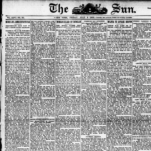 The sun  (New York [N Y ]) 1833-1916, July 09, 1909, Image 1