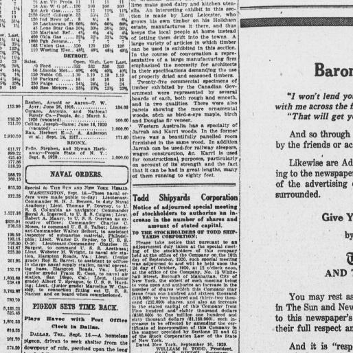 The Sun and the New York herald  (New York [N Y ]) 1920-1920