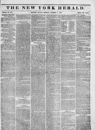 The New York herald  (New York [N Y ]) 1840-1920, October 21