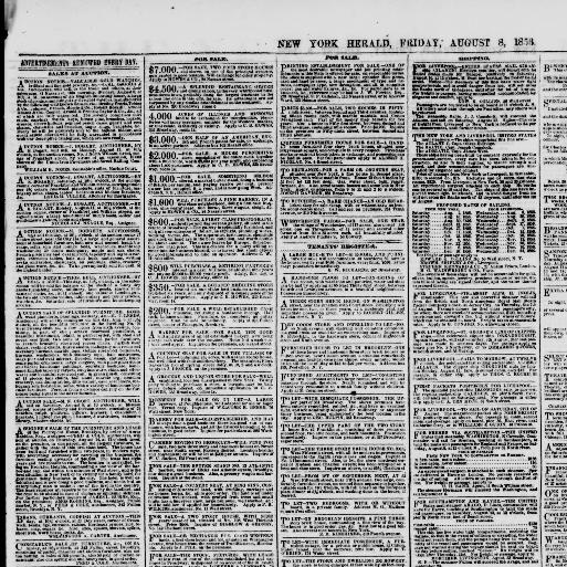 1920August Heraldnewn The y1840 York New 081856 BorxWdQCeE