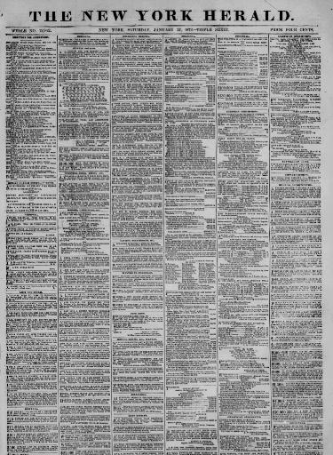 The New York herald  (New York [N Y ]) 1840-1920, January 27