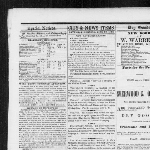 Cleveland morning leader  (Cleveland [Ohio]) 1854-1865, June