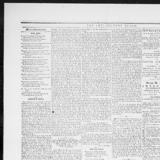Anti-slavery bugle  [volume] (New-Lisbon, Ohio) 1845-1861, October