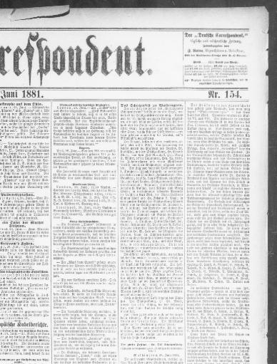 Der Deutsche correspondent. (Baltimore, Md.) 1841-1918, June 29 ...