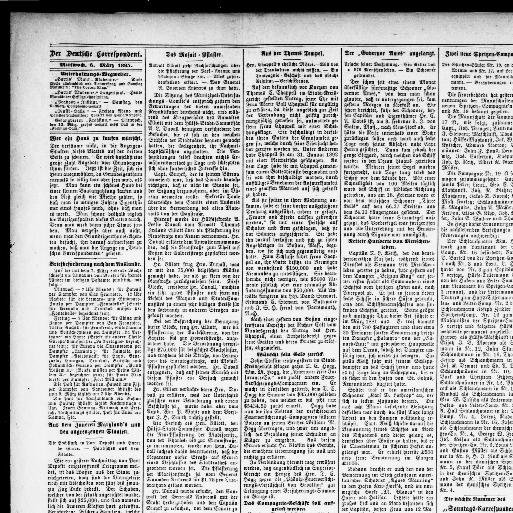 Der Deutsche Correspondent. (Baltimore, Md.) 1841 1918, March 06, 1895,  Image 4 « Chronicling America « Library Of Congress