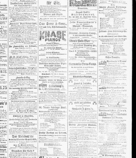 Der Deutsche correspondent. (Baltimore, Md.) 1841-1918, September 09 ...