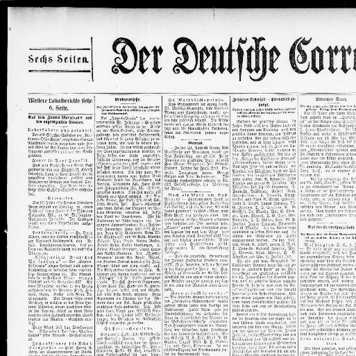 Der Deutsche Correspondent. (Baltimore, Md.) 1841 1918, June 05, 1896,  Image 3 « Chronicling America « Library Of Congress