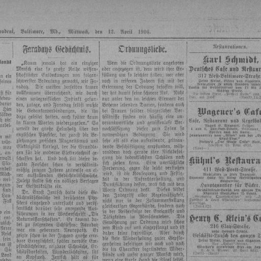 Der Deutsche Correspondent. (Baltimore, Md.) 1841 1918, April 12, 1916,  Page 3, Image 3 « Chronicling America « Library Of Congress