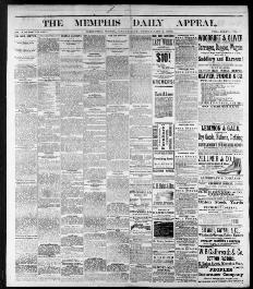 2429f01c Memphis daily appeal., February 02, 1884, Image 1. About Memphis daily  appeal. (Memphis, Tenn.) 1847-1886