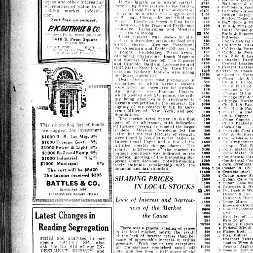 Evening public ledger  (Philadelphia [Pa ]) 1914-1942, May 16, 1921