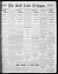 Thumbnail for the Jan. 1, 1904 edition of the The Salt Lake Tribune