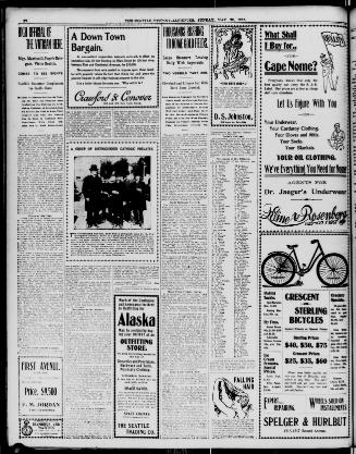 The Seattle Post Intelligencer May 20 1900 Page 12 Image About Wash Terr 1888 1914