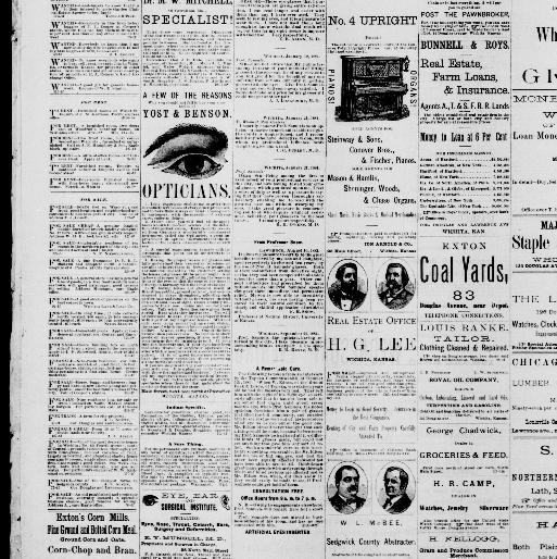 Wichita daily eagle  (Wichita, Kan ) 1884-1886, October 17