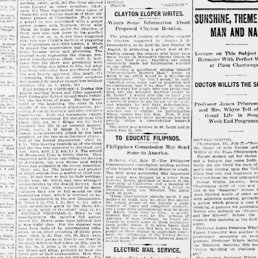 The St  Louis Republic  (St  Louis, Mo ) 1888-1919, July 28