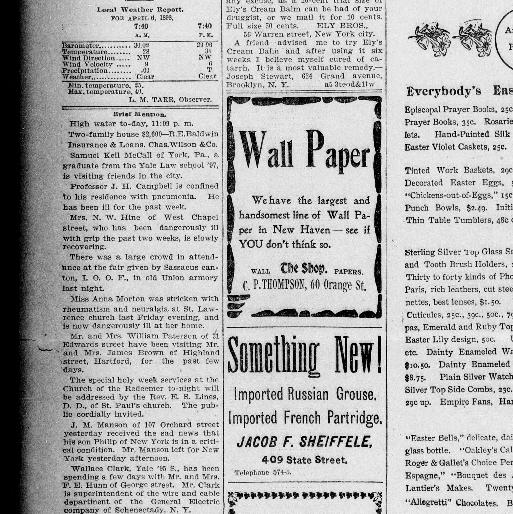 The daily morning journal and courier  (New Haven, Conn ) 1894-1907