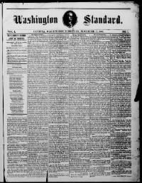 Thumbnail for the Nov. 17, 1860 edition of the Washington Standard