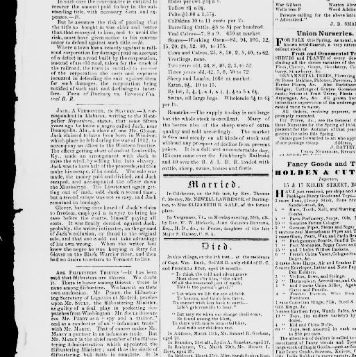 cbd3716e49 Burlington free press. (Burlington, Vt.) 1827-1865, April 13, 1855, Image 3  « Chronicling America « Library of Congress