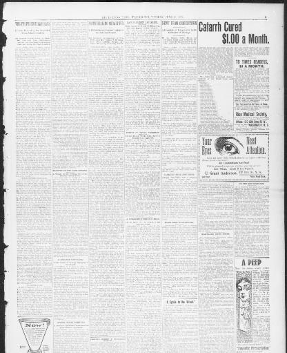 10e09d9c The evening times. (Washington, D.C.) 1895-1902, June 18, 1901, Page 3,  Image 3 « Chronicling America « Library of Congress