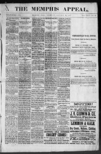 Thumbnail for the Jan. 28, 1886 edition of the The Memphis Appeal
