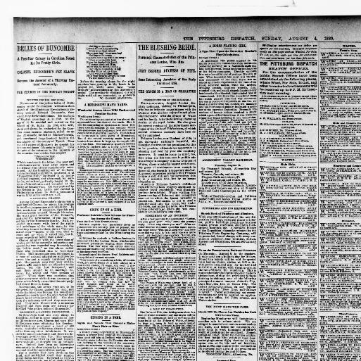Pittsburg dispatch  (Pittsburg [Pa ]) 1880-1923, August 04, 1889