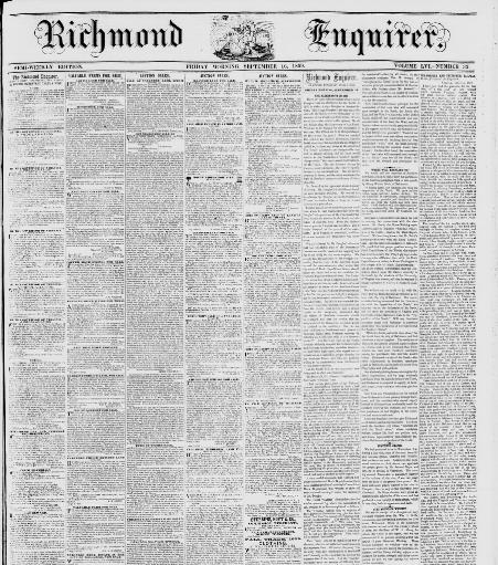 Richmond enquirer  (Richmond, Va ) 1815-1867, September 16, 1859