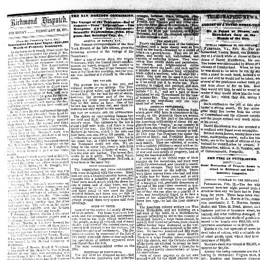 The daily dispatch  (Richmond [Va ]) 1850-1884, February 23