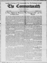 Thumbnail for the Feb. 4, 1911 edition of the The Commonwealth