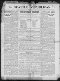 Thumbnail for the Feb. 23, 1900 edition of the The Seattle Republican