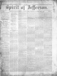 Thumbnail for the Sept. 27, 1844 edition of the Spirit Of Jefferson