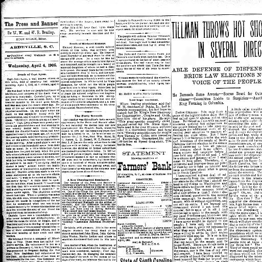 The Abbeville press and banner  (Abbeville, S C ) 1869-1924, April