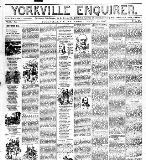 yorkville enquirer volume yorkville s c 1855 2006 april 25 Retired Navy Officer Resume yorkville enquirer volume yorkville s c 1855 2006 april 25 1888 image 1 chronicling america library of congress