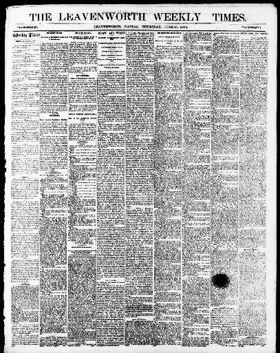 The Leavenworth weekly times  (Leavenworth, Kan ) 1870-1880, June 27