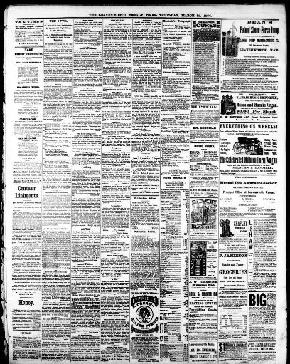The Leavenworth Weekly Times Leavenworth Kan 1870 1880 March