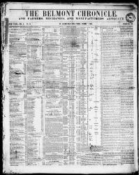 Thumbnail for the Jan. 7, 1853 edition of the The Belmont Chronicle, And Farmers, Mechanics And Manufacturers Advocate