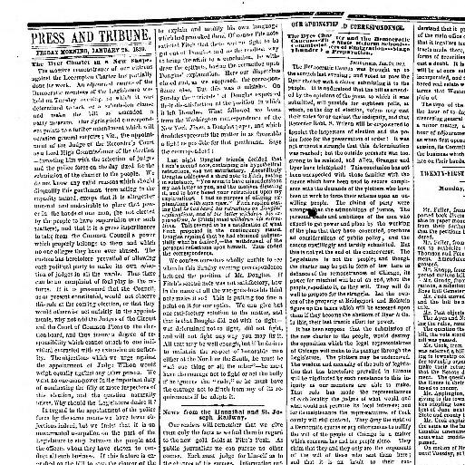 Chicago daily press and tribune  (Chicago, Ill ) 1858-1859, January