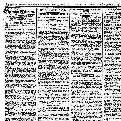Chicago Daily Tribune Volume Chicago Ill 1860 1864 February