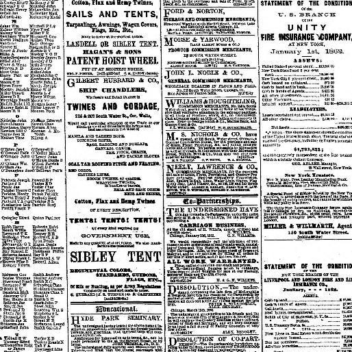 Chicago Daily Tribune Volume Chicago Ill 1860 1864 March 17