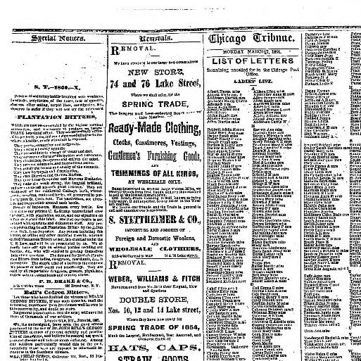 669fbb81112 Chicago daily tribune. [volume] (Chicago, Ill.) 1860-1864, March 07, 1864,  Image 3 « Chronicling America « Library of Congress