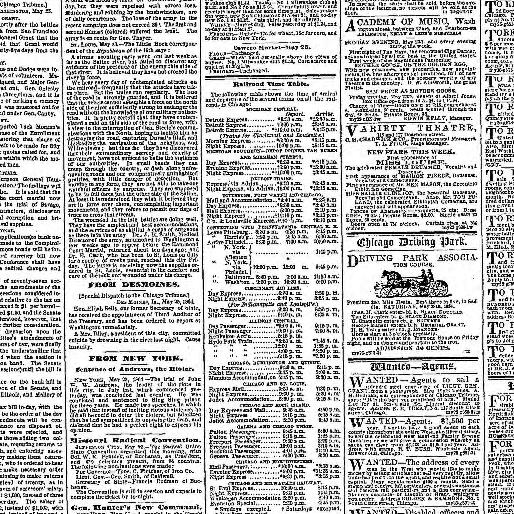 Chicago Daily Tribune Volume Chicago Ill 1860 1864 May 26
