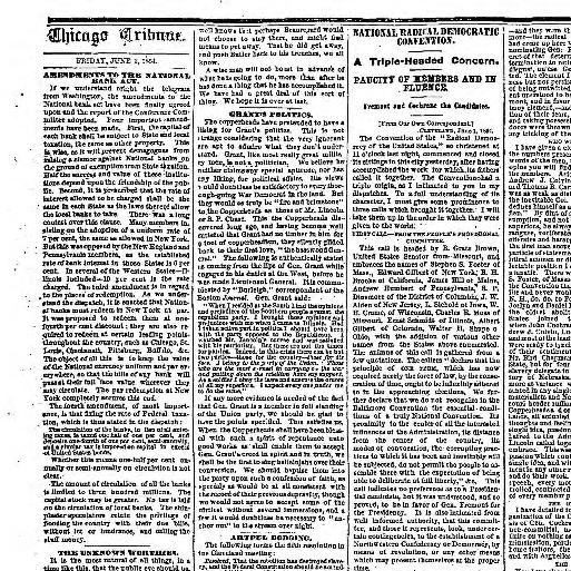 Chicago daily tribune  [volume] (Chicago, Ill ) 1860-1864, June 03