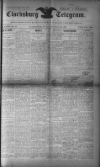 Thumbnail for the Jan. 20, 1893 edition of the The Clarksburg Telegram
