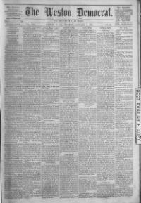 Thumbnail for the Jan. 4, 1875 edition of the The Weston Democrat