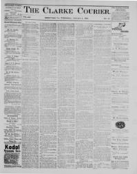 Thumbnail for the Jan. 4, 1899 edition of the Clarke Courier