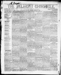 Thumbnail for the Feb. 1, 1855 edition of the Belmont Chronicle