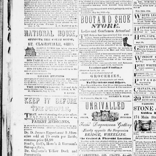 Belmont Chronicle St Clairsville Ohio 1855 1973 September 27