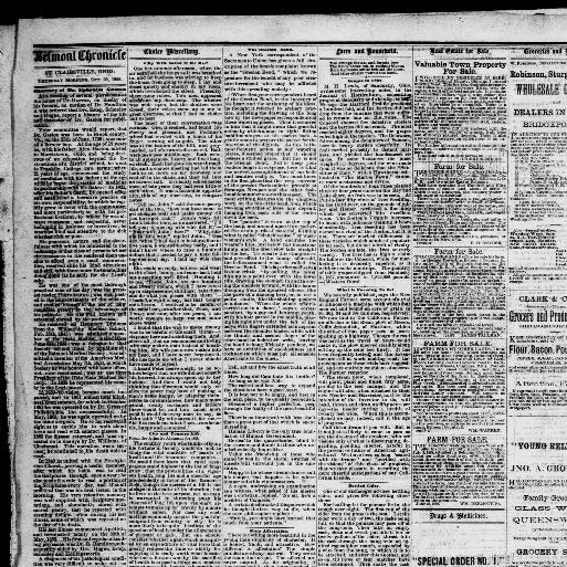 Belmont Chronicle St Clairsville Ohio 1855 1973 October 29