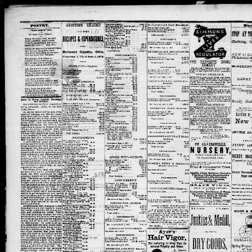 Belmont Chronicle St Clairsville Ohio 1855 1973 November 26